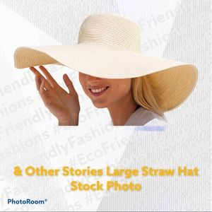 & Other Stories Large Straw Sun Beach Hat